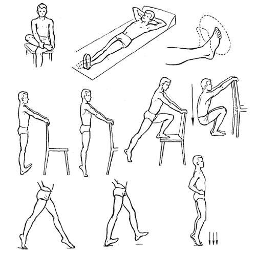 Комплекс упражнений для разработки голеностопного сустава после перелома дона порошок для суставов отзывы цена