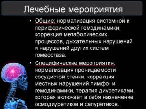 Как снять отек мозга