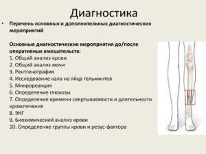 Диагностика при переломе ноги