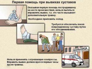 Первая помощь при вывихах суставов